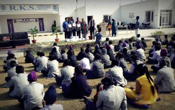 Students of RKS IPS attending prize distribution ceremony
