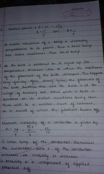 Younger sister's handwriting